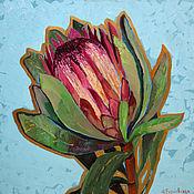 Картины и панно handmade. Livemaster - original item Oil painting large. Proteus Flower. Interior. Handmade.