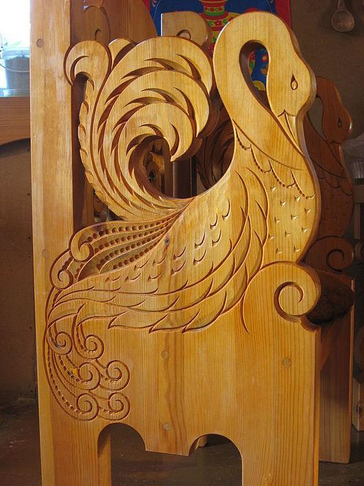 Мебель ручной работы. Ярмарка Мастеров - ручная работа. Купить Стол и два кресла, резьба в русском стиле. Handmade.