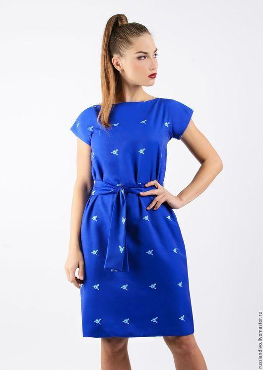 Платья ручной работы. Ярмарка Мастеров - ручная работа. Купить Платье Ежевичка. Handmade. Тёмно-синий, повседневное платье, Ягодки