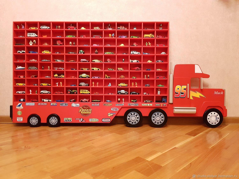 """Полка-грузовик """" MEGA MACK"""" для моделей машинок 120 ячеек"""