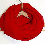 Аксессуары ручной работы. Ярмарка Мастеров - ручная работа Шарф снуд хомут труба Красный. Handmade.