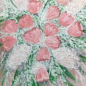 Pictures handmade. Livemaster - original item Painting with Tulip flowers