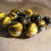 Материалы для творчества handmade. Livemaster - original item Tiger eye bead, 10mm. Handmade.