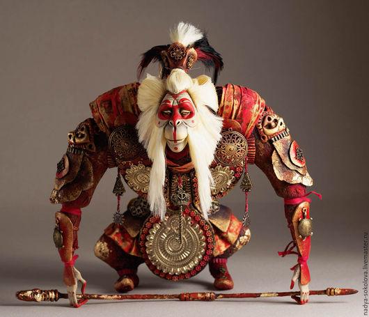 Коллекционные куклы ручной работы. Ярмарка Мастеров - ручная работа. Купить Укун. Handmade. Ярко-красный, папье маше