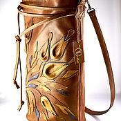 Сумки и аксессуары handmade. Livemaster - original item Shopper bag leather red Taste of honey Elegant handmade bag. Handmade.