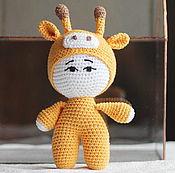 Куклы и игрушки handmade. Livemaster - original item Baby doll in cap grafica. Handmade.