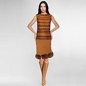 Одежда handmade. Livemaster - original item Spectacular design skirt handmade with real fur. Handmade.