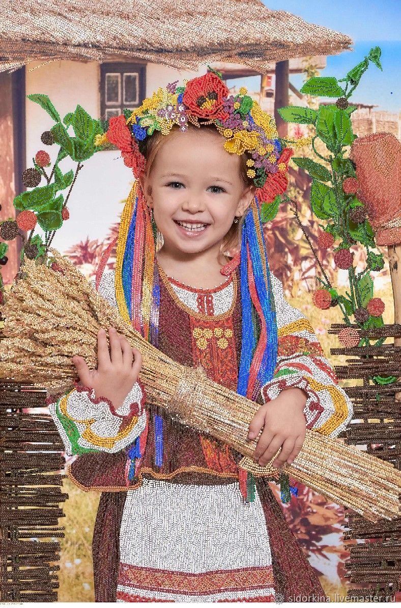 Схема вышивки бисером. Портрет девочки, Схемы для вышивки, Москва,  Фото №1
