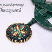 Украшения handmade. Livemaster - original item Embroidered pendant Star of dryads. Handmade.