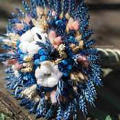 Цветы и флористика ручной работы. Ярмарка Мастеров - ручная работа Букето из сухоцветов. Handmade.