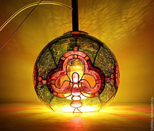 Освещение ручной работы. Ярмарка Мастеров - ручная работа. Купить Светильники. Handmade. Комбинированный, авторская работа, романтика, витражный контур