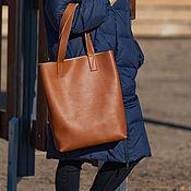 Сумки и аксессуары handmade. Livemaster - original item Women`s leather bag shopper brown (leather bag). Handmade.