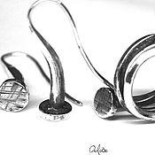 Украшения ручной работы. Ярмарка Мастеров - ручная работа Комплект серебряные гвозди (Длинные серьги и 2.5 оборота кольцо). Handmade.
