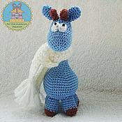 Куклы и игрушки ручной работы. Ярмарка Мастеров - ручная работа снежный жираф. Handmade.