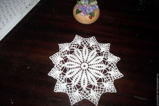 Текстиль, ковры ручной работы. Ярмарка Мастеров - ручная работа. Купить Салфетка вязаная крючком. Handmade. Бежевый, ажурная салфетка
