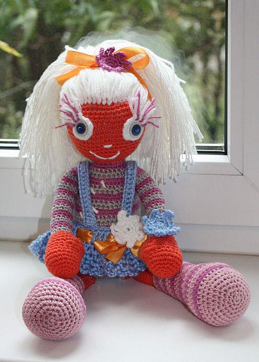 """Человечки ручной работы. Ярмарка Мастеров - ручная работа. Купить Куколка """"Апельсинка"""". Handmade. Куколка, акрил детский, акрил"""