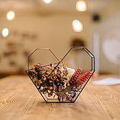 Растения ручной работы. Ярмарка Мастеров - ручная работа Композиция в геометрическом флорариуме, сердце. Handmade.