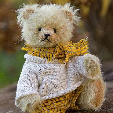 Куклы и игрушки ручной работы. Ярмарка Мастеров - ручная работа Мишка Тедди Октябрь. Handmade.