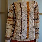Одежда ручной работы. Ярмарка Мастеров - ручная работа Джемпер р.42-46 бохо сливочный. Handmade.