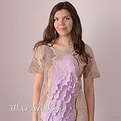 Одежда handmade. Livemaster - original item Felted dress `A Touch of tenderness`. Handmade.
