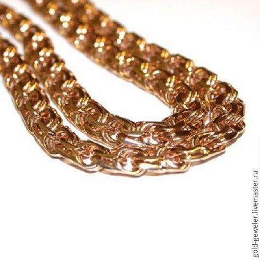 Мужская золотая цепь на заказ любого размера