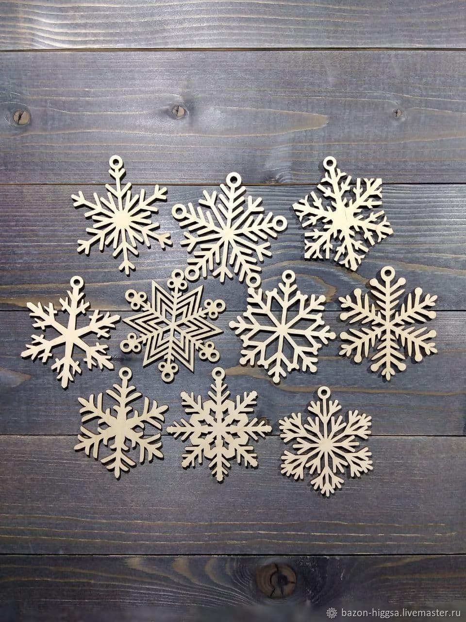 Набор снежинок 10 шт, Новогодние сувениры, Санкт-Петербург,  Фото №1