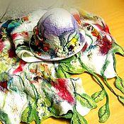 """Аксессуары ручной работы. Ярмарка Мастеров - ручная работа """"Долина плодородия"""" .Комплект - шляпка с шарфом.. Handmade."""