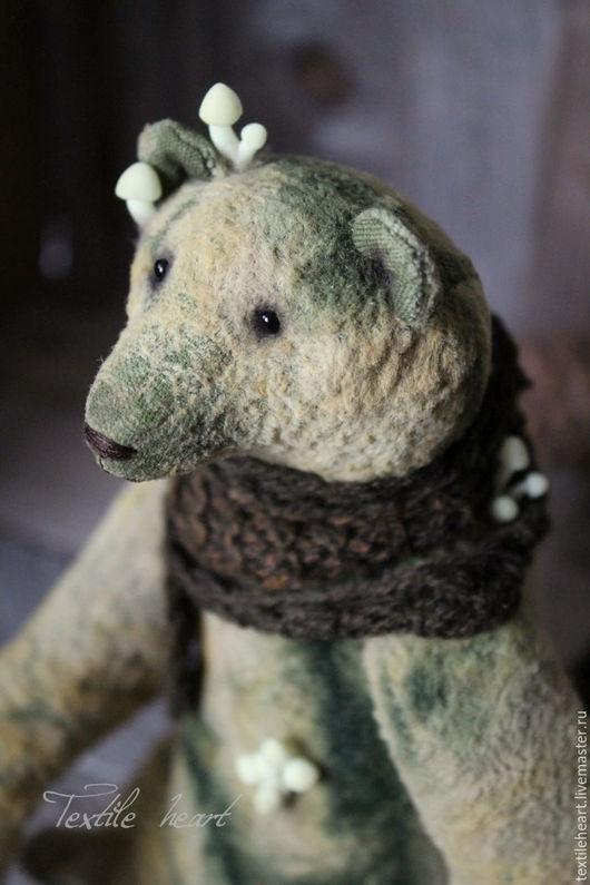 Мишки Тедди ручной работы. Ярмарка Мастеров - ручная работа. Купить Mushroom bear.... Handmade. Оливковый, мишки тедди, грибы