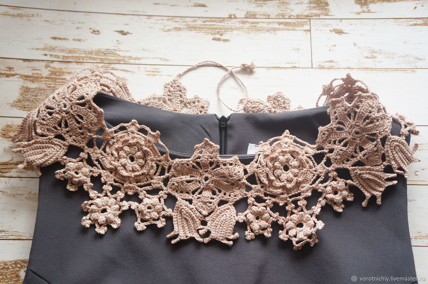 Delicate pearly collar 'Irish lace', Collars, Stavropol,  Фото №1