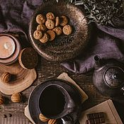 Посуда handmade. Livemaster - original item Set of tableware: Teapot, mug and saucer ( tea pair), container. Handmade.