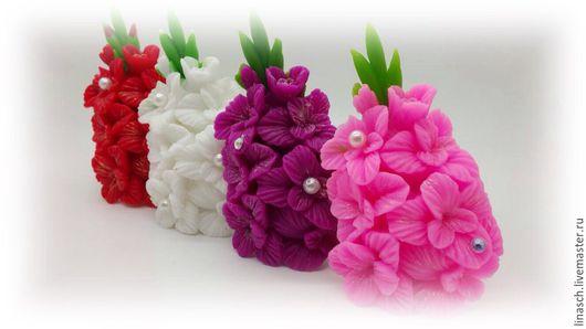 """Мыло ручной работы. Ярмарка Мастеров - ручная работа. Купить Мыло """" Гладиолус"""". Handmade. Розовый, подарок женщине"""