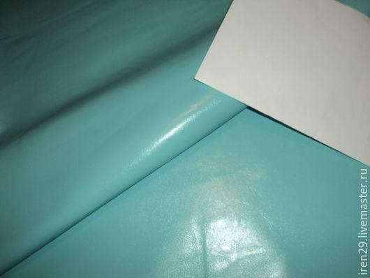 """Шитье ручной работы. Ярмарка Мастеров - ручная работа. Купить Натуральная кожа """"Небесно-голубой"""". Handmade. Кожа, итальянская кожа"""