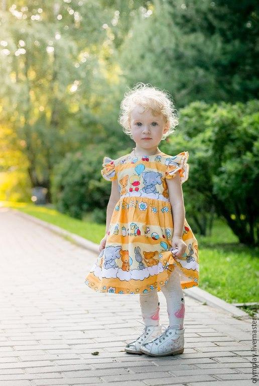 Одежда для девочек, ручной работы. Ярмарка Мастеров - ручная работа. Купить Платье - ручная работа (№ 200339). Handmade. Желтый