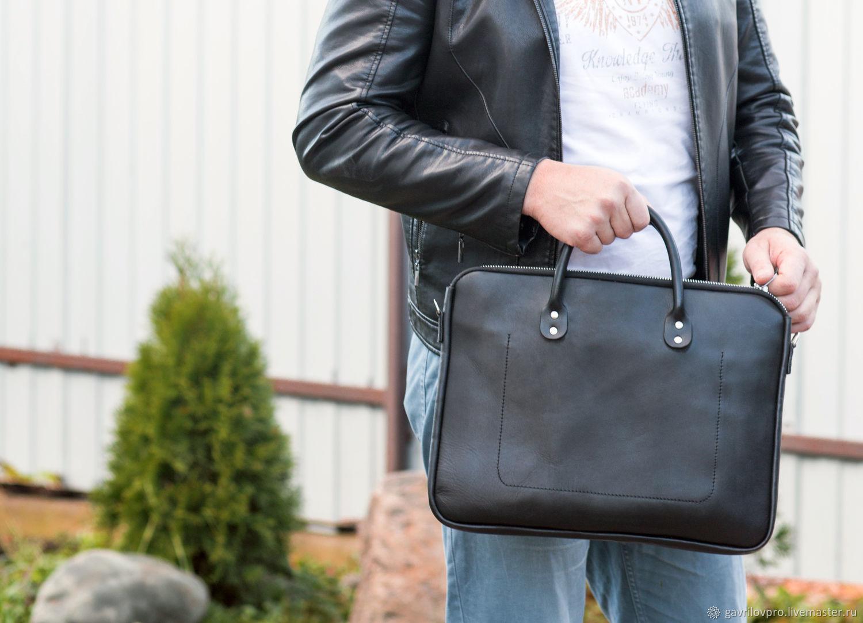 32cb0e2f9365 Мужские сумки ручной работы. Ярмарка Мастеров - ручная работа. Купить Мужская  кожаная сумка ' ...
