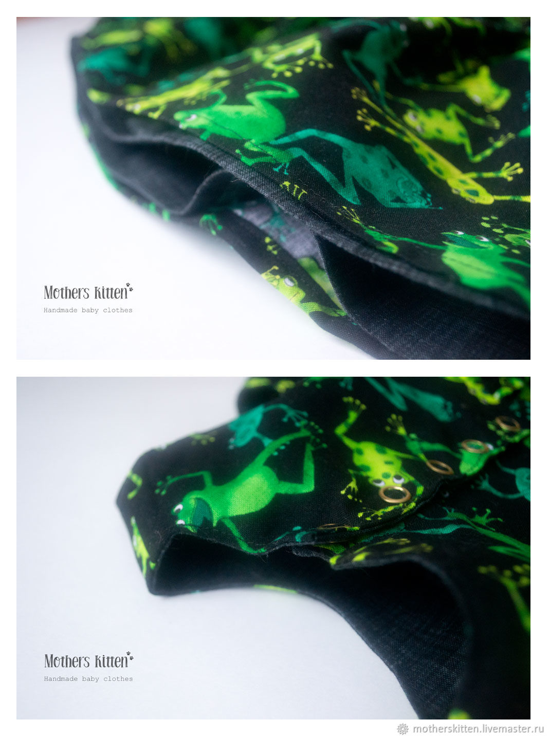 Двухстороннее платье, лягушки+графит, 62