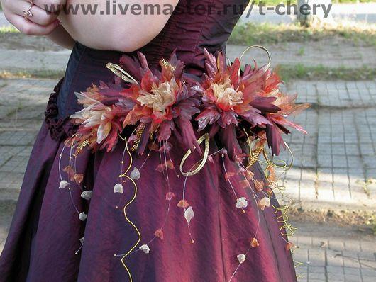 Свадебные цветы ручной работы. Ярмарка Мастеров - ручная работа. Купить Цветы для наряда на выпускной вечер. Хризантемы стилизованные. Handmade.