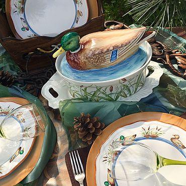 Посуда ручной работы. Ярмарка Мастеров - ручная работа Роспись фарфора. Handmade.