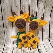 Куклы и игрушки ручной работы. Ярмарка Мастеров - ручная работа Вязаный Жираф. Handmade.