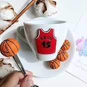 Кружки ручной работы. Ярмарка Мастеров - ручная работа Подарок для баскетболиста ручной работы. Handmade.