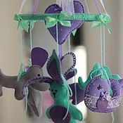 """Для дома и интерьера ручной работы. Ярмарка Мастеров - ручная работа Мобиль в кроватку """"Мятно-фиолетовый"""". Handmade."""