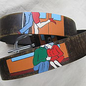 Аксессуары handmade. Livemaster - original item In the SUBWAY strap leather. Handmade.
