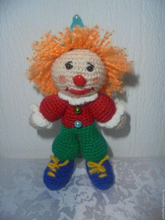 Человечки ручной работы. Ярмарка Мастеров - ручная работа. Купить клоун. Handmade. Комбинированный, вязание, игрушка, пряжа для вязания