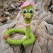 Куклы и игрушки ручной работы. Ярмарка Мастеров - ручная работа Змейка-модница. Handmade.