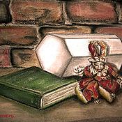 Картины ручной работы. Ярмарка Мастеров - ручная работа Картина пастелью и углем. Триптих. Шестиугольник. № 2. Handmade.