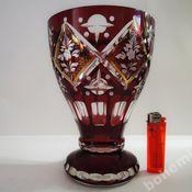 Винтаж handmade. Livemaster - original item Colored red glass vase hand painted Engraved Egermann 1930-1. Handmade.