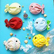 """Куклы и игрушки handmade. Livemaster - original item Сенсорные мешочки """"Рыбки"""". Handmade."""