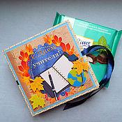 Сувениры и подарки handmade. Livemaster - original item Postcard-chocolate maker for Teacher`s Day. Handmade.