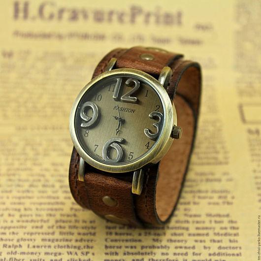 Часы ручной работы. Ярмарка Мастеров - ручная работа. Купить Часы наручные в стиле винтаж 001. Handmade. Часы