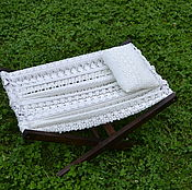 Сувениры и подарки handmade. Livemaster - original item A hammock for a photoshoot newborn lace pillow. Handmade.