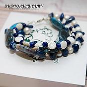 Украшения handmade. Livemaster - original item Bracelet made of natural stones and pearls